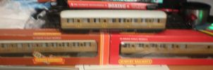 LNER teak carriages by WhippetWild