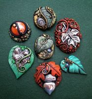 Fall Assorted Cabochons 2 by MandarinMoon