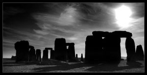 Stonehenge in Shadow by Colin-Moore