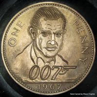 James Bond Carved Penny by shaun750