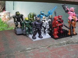 Red vs Blue- Megablocks figures by Thorndove