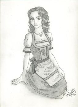 Dirndl Girl by LilClaw