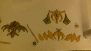 Cosplay Jewelry WIP by Katreal