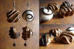 Chocolate Candy Earrings by Erisana