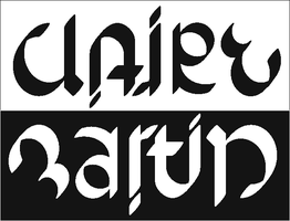 Claire+Martin ambigram by dtw42