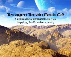 Terragen Terrain Pack 02 by Regulus36
