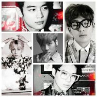 SHINee black and white by Michael1525