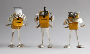 robot sculptures by adoptabot