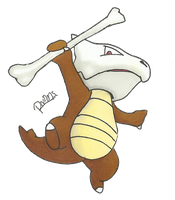 Kanto no. 105 Marowak by Randomous