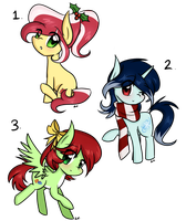 Mini Pony Adopts 3 - Christmas edition [OPEN] by LittleCloudie