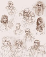 SWTOR  character sketchdump by zenevaydragon973