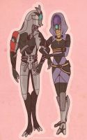 Legion and Tali by PotatoCrisp