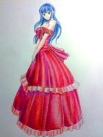 Girl with red dress by Guryfrog