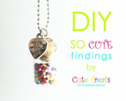 DIY Rainbow Bubblegum Necklace by Cutetreatsbyjany