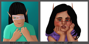 Little Aloisa - Before and After by Ammeg88