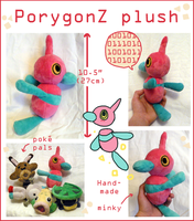 PorygonZ Pokedoll plush by SilkenCat