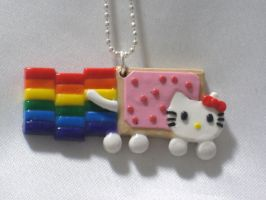 Hello Kitty Nyan Cat Necklace by SaphirazlilJewels