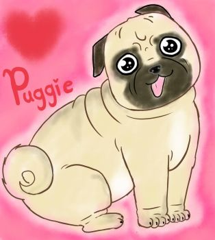 Fat Puggie by Pink--Reptile