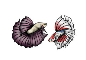 Betta Tattoo Commish by DarkMoon17