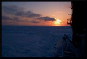 sunset and polarstern by Macomona