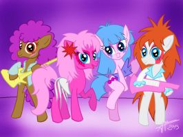 Jem and The Holograms Ponies by Euronymousa