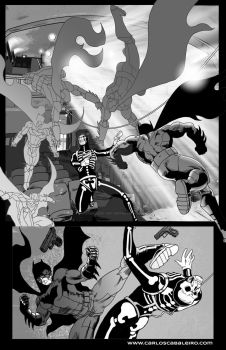 Batman: Black and White page 5 by cabaleiro-art
