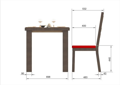 Furniture for cafe-bar 'Yes'_4 by Mladshoi