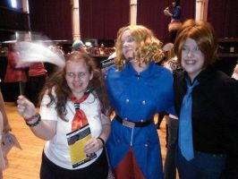 Me with Italy and France cosplayers :3 by OtakuRhi