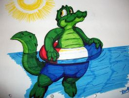 Floating Gator by Tommassey250