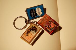 Book Keychain by redbird7