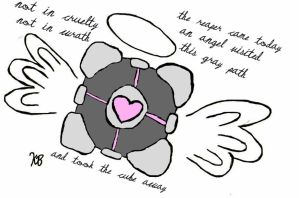 Weighted Companion Cube by EtherealStardust