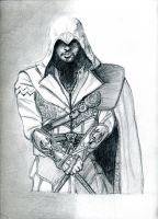 I used pencil drawing Assassin's Creed... by 841376252
