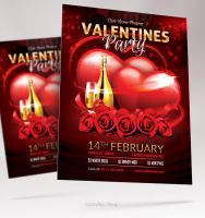 Valentines Day Party Flyer by valentinpl
