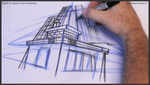 Learn how to draw city buildings 025 by drawingcourse