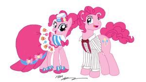 Pinkie Pie and Bubble Berry at the Gala by StagetechyArt
