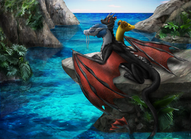 Commission - Summer Hydra by Cryophase