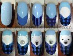 Polar Bear Flannel - steps by m-everhamnails