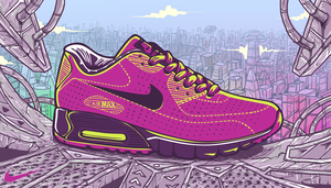 Nike Air Max 90 MOIRE by kurtmorrisrojas