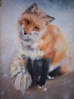 Fox Painting by MetallicPrincessRa