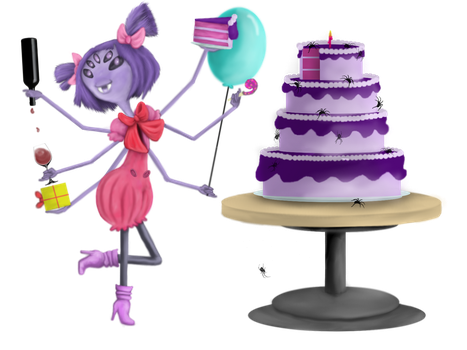 Muffet's Birthday Party by Ravyn-Karasu