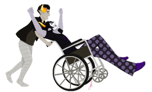 Wheelchair Shenanigans by animelife4ever