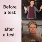 Before a test and after a test by DirectionForLyfe