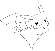 pikachu lineart2 by michy123