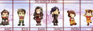 Legend of Korra Chibis by snowp