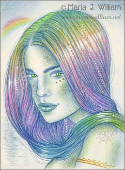 Rainbows And Pearls - sketch by MJWilliam
