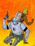 Robo and Rocketeer by Finfrock