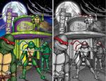 TMNT Astro-Zombies Cover by jonito