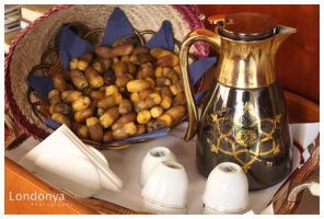 Coffee and dates palm by Londonya