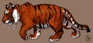 Tiger Sketch by painted-flamingo