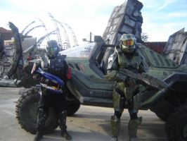 ODST,MasterChief and Warthog by SnuggleMoogle